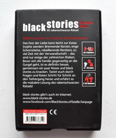 Black stories - 2011 Christmas Edition Moses Kartenspiel