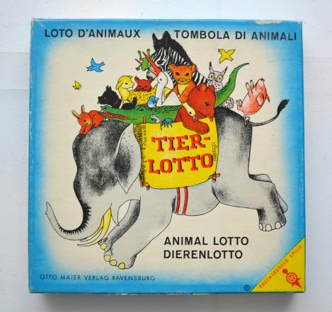 Tier-Lotto Ravensburger 1965 Vintage