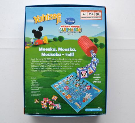 Yahtzee Jr. Mickey Mouse Clubhouse 2007 US Version