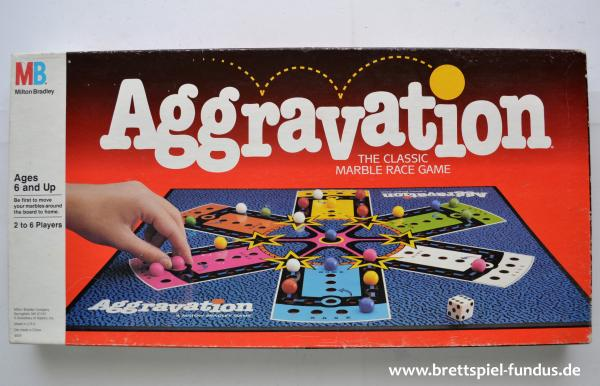 Aggravation Board Game 1989 englische Version MB